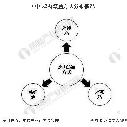 中国鸡肉流通方式分布情况