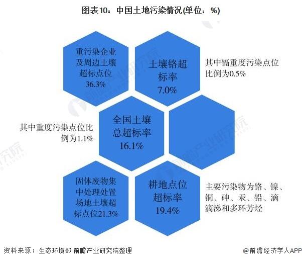 图表10:中国土地污染情况(单位:%)