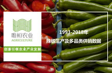 1993-2018年辣椒生产及多品类供销数据