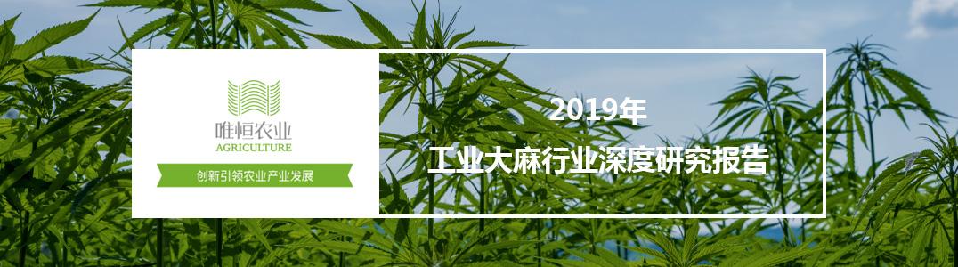 2019年工业大麻行业深度研究报告