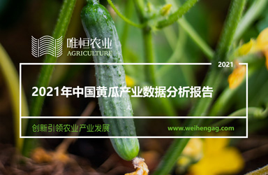 《唯恒农业:2021年中国黄瓜产业数据分析报告》