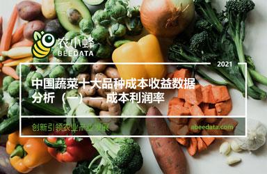 《农小蜂:中国蔬菜十大品种成本收益数据分析(一)- 成本利润率》