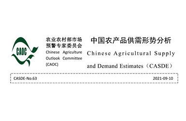 《2021年9月中国农产品供需形势分析(CASDE-No.63)》