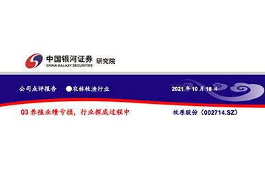 《中国银河证券:牧原股份(002714)Q3养殖业绩亏损,行业探底过程中》